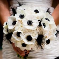 bouquet sposa anemoni