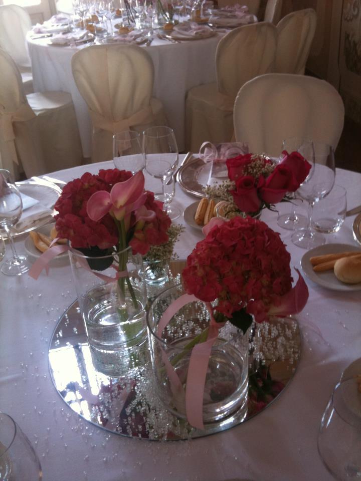 allestimento fiori - centrotavola matrimonio