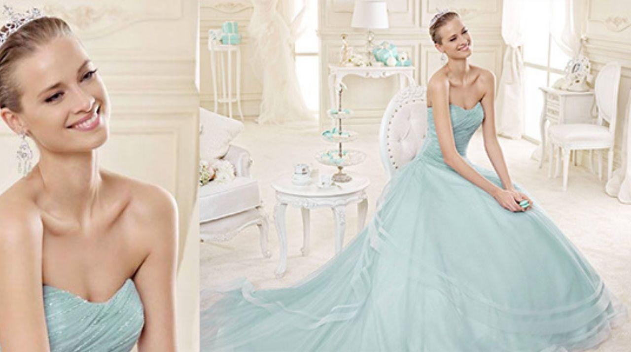 Nicole Spose abito da sposa color Tiffany