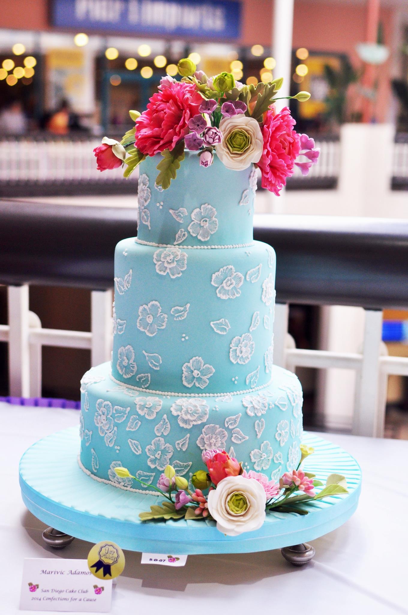Torta Tiffany con fiori marinold cakes