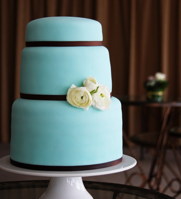 Torta color tiffany e cioccolato