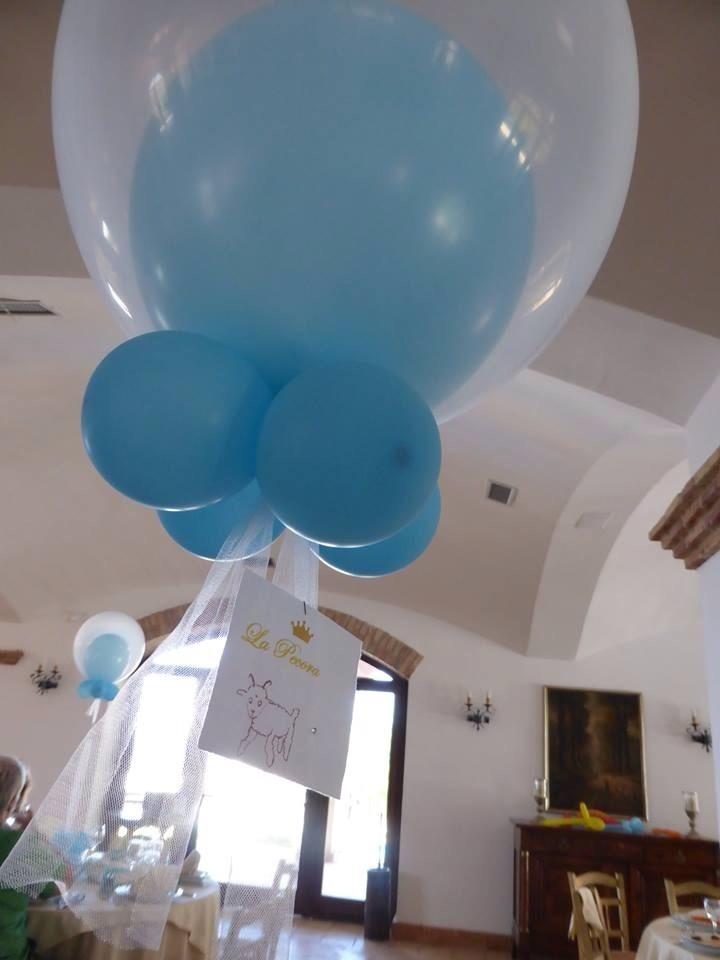 Allestimento battesimo palloncini