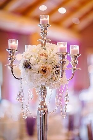 matrimonio stile vittoriano candelabro