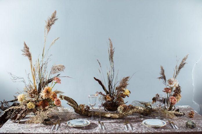 decorazione tavolo matrimonio in autunno