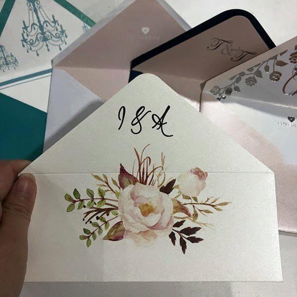 personalizzazione busta partecipazione matrimonio