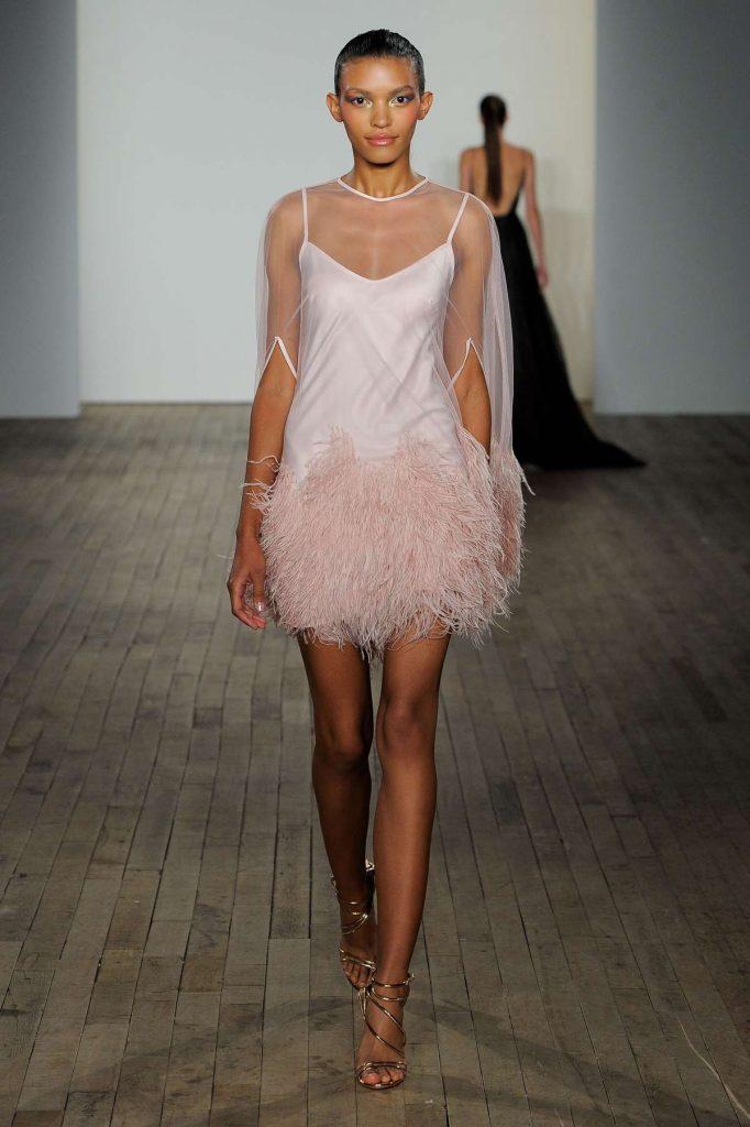 Abito da sposa corto - rosa cipria - Hayley Paige