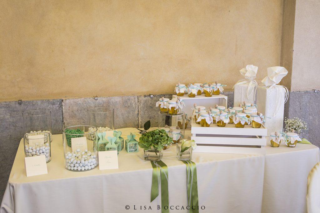 Confettata Matrimonio bianco e verde