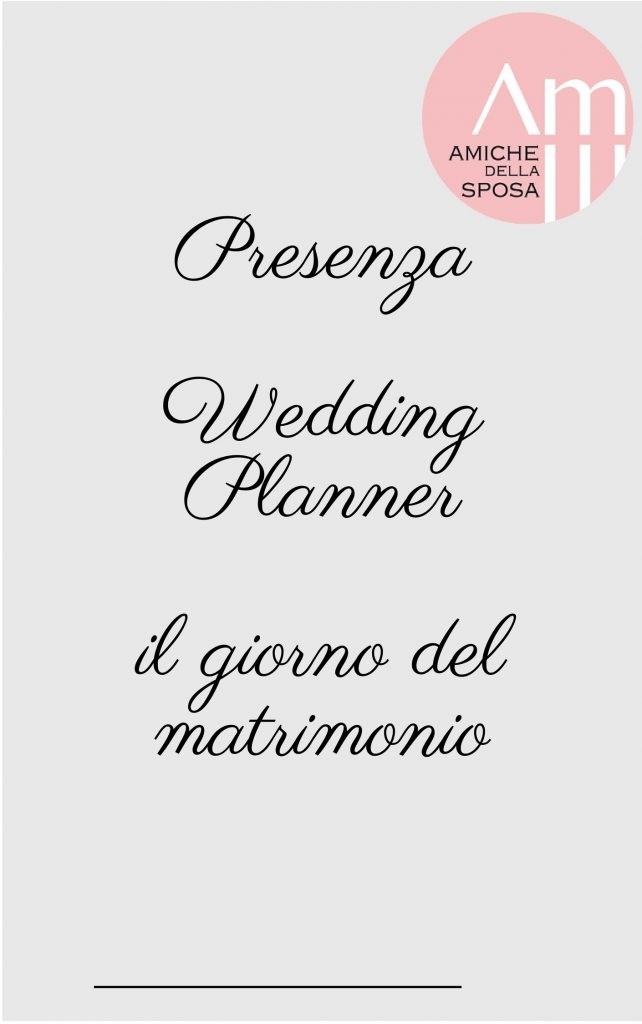 WB Presenza Wedding Planner