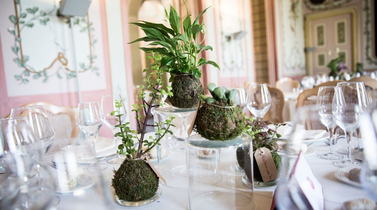 Centrotavola matrimonio green wp Antonella Amato Wedding Planner