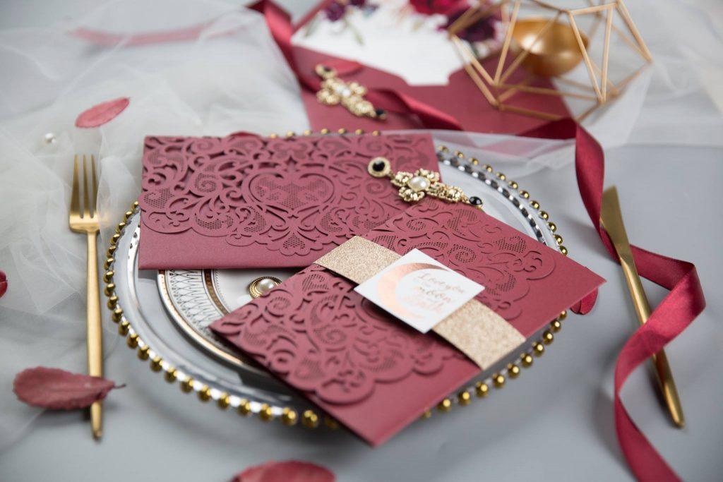 partecipazione matrimonio autunnale di Antonella Amato Wedding planner