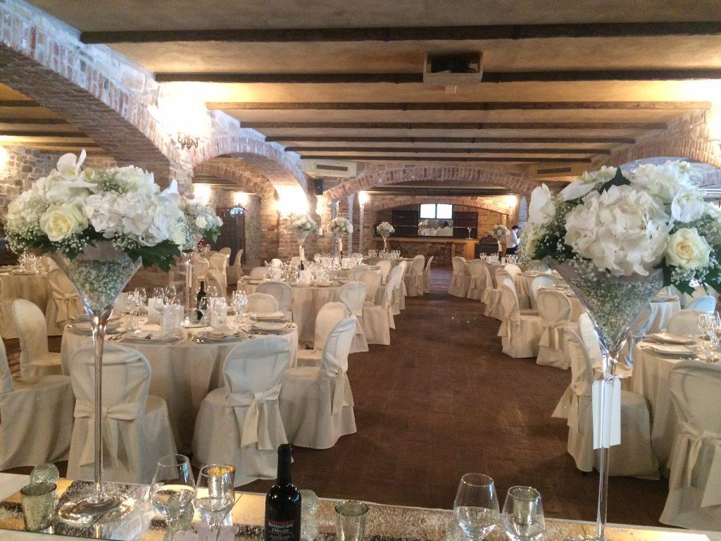 Matrimonio Total White - allestimento sala ricevimento wp matrimonio @Antonella Amato Wedding Planner