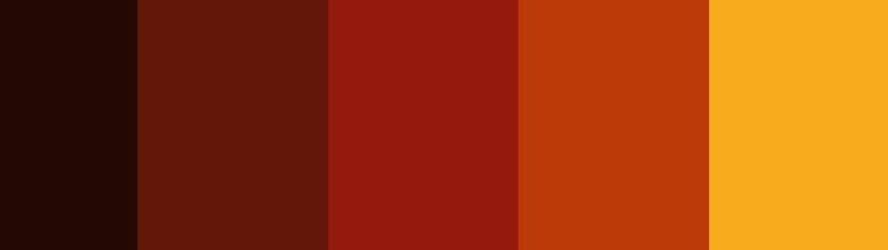 proposta palette colori autunnali con oro