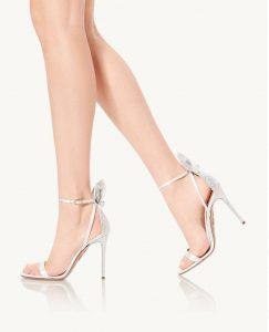"Sandalo Aquazzura ""Bow Tie Crystal Sandal 105"""