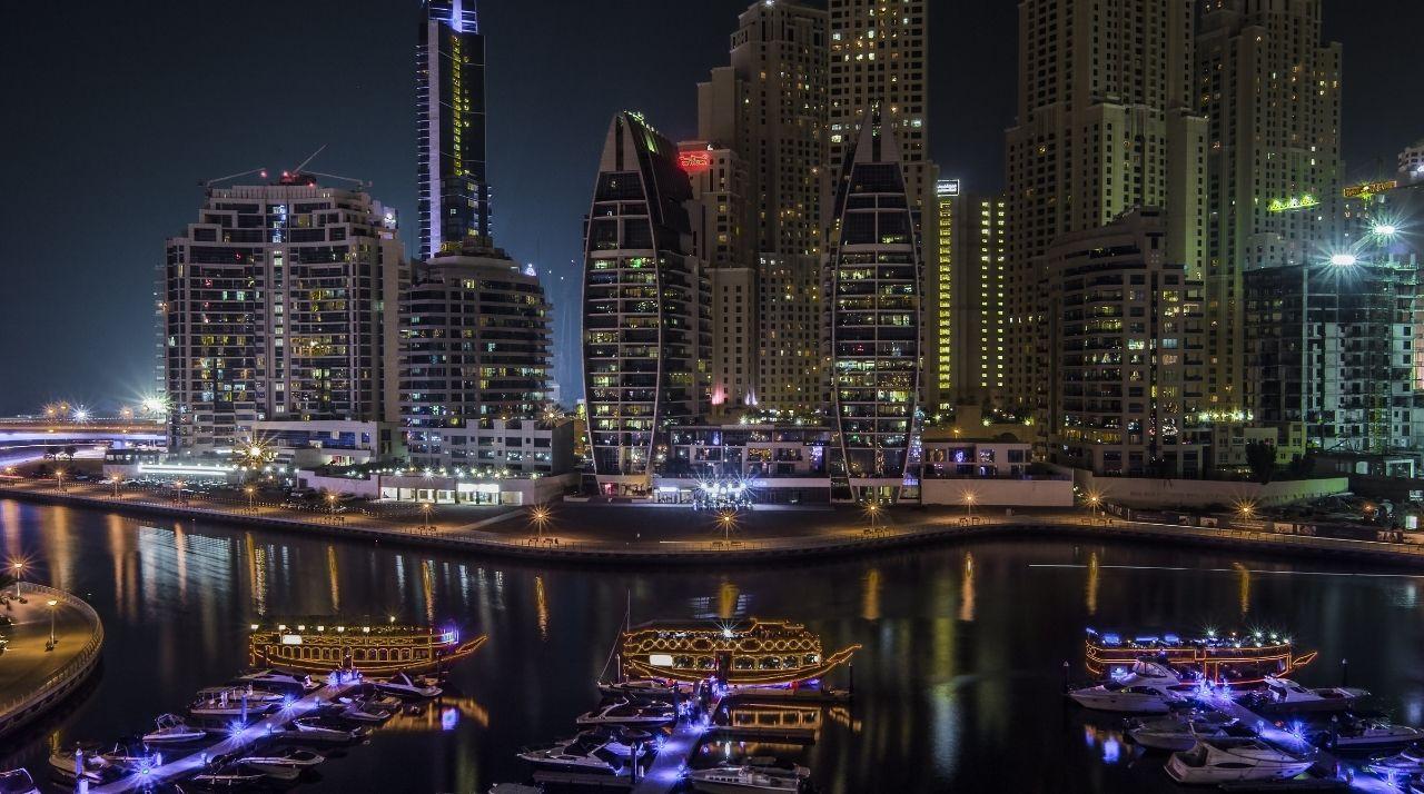 Viaggio di Nozze in Medio Oriente. Emirati Arabi - Panorama Notturno