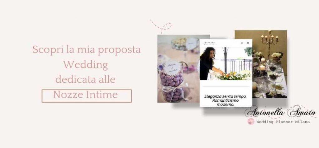 Scopri la mia proposta Wedding dedicata alle Nozze Intime - Antonella Amato Wedding Planner