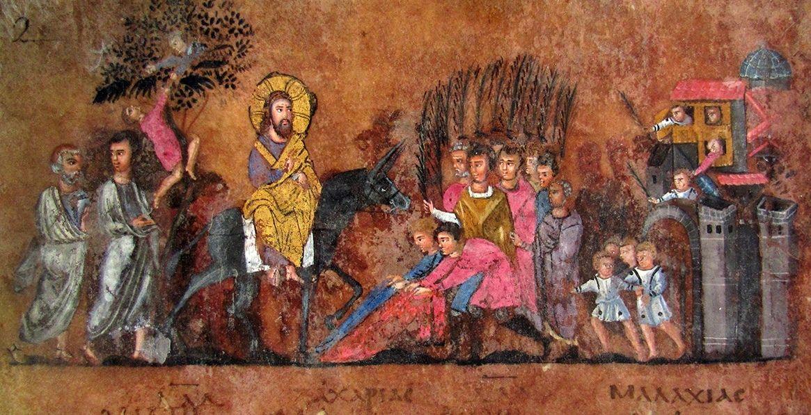 L'ingresso_di_Gesù_a_Gerusalemme_Codex_Purpureus_Rossanensis