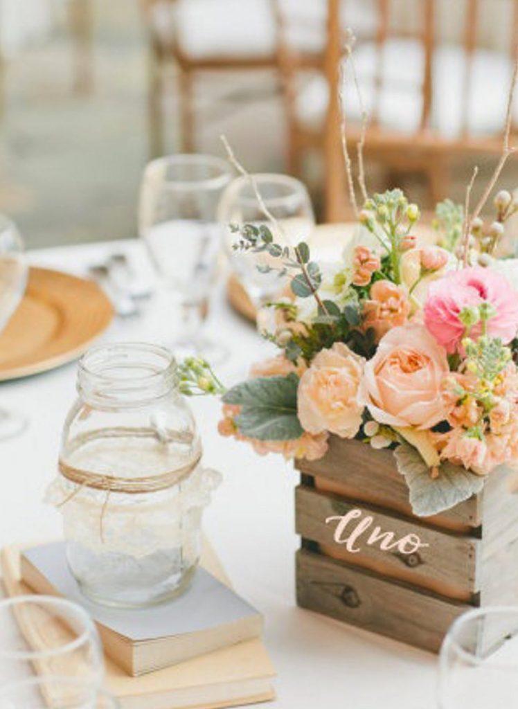 Numero tavolo legno rustico