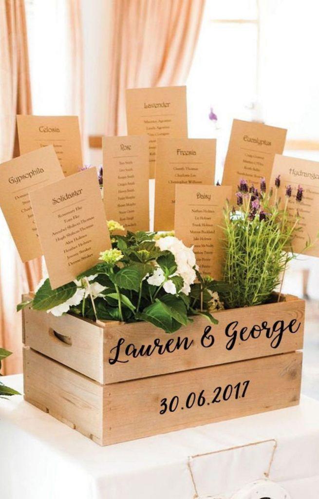 Tableau de mariage in legno rustico