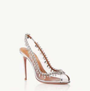 "Scarpe da sposa Aquazzura  ""Temptation Crystal Sandal 105"""