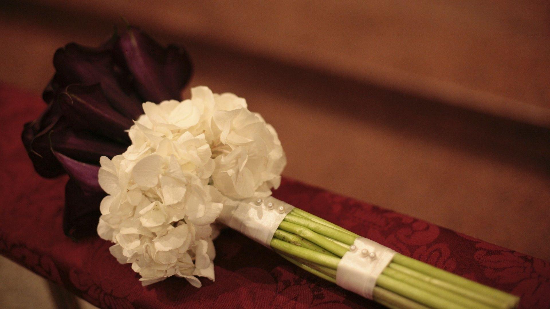 bouquet calle e perline