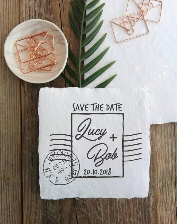 Save the date: timbro francobollo
