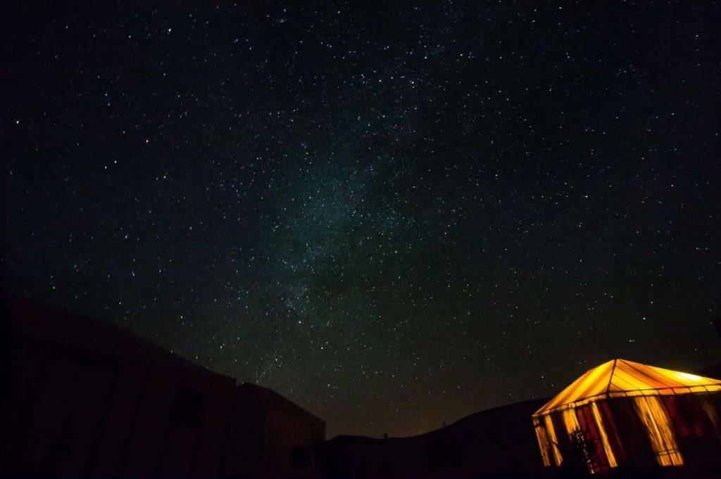 Il sahara di notte